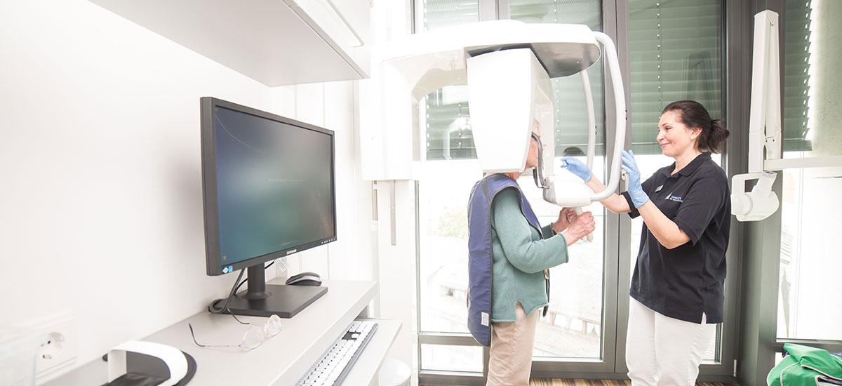 Digitales Röntgen mit dem DVT in Ulm.