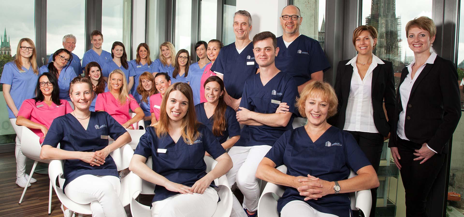 Vorstellung des Teams der Zahnärzte im Wengentor in Ulm