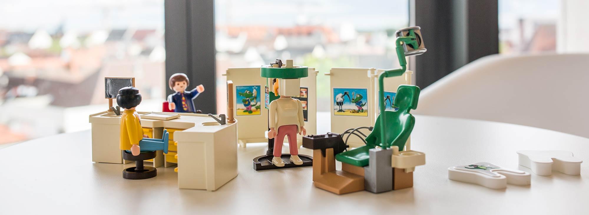 Miniaturmodell der Zahnarztpraxis Wengentor in Ulm